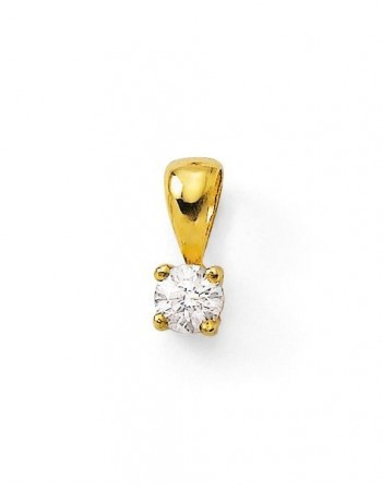 Diamond pendant in yellow gold - 18 K gold: 0.35 Gr