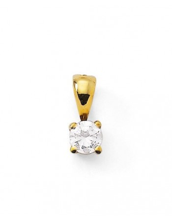 Diamond pendant in yellow gold - 18 K gold: 0.50 Gr
