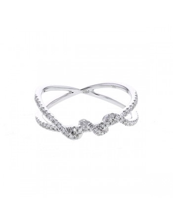 Diamond ring in white gold - 9 K gold: 1.80 Gr