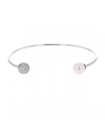 Diamond bracelet in white gold - 9 K gold: 5.95 Gr
