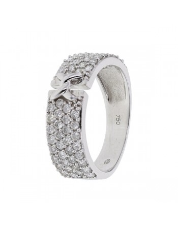 Diamond ring in white gold - 18 K gold: 4.75 Gr