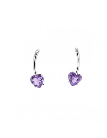 earrings in white gold - 18 K gold: 0.65 Gr