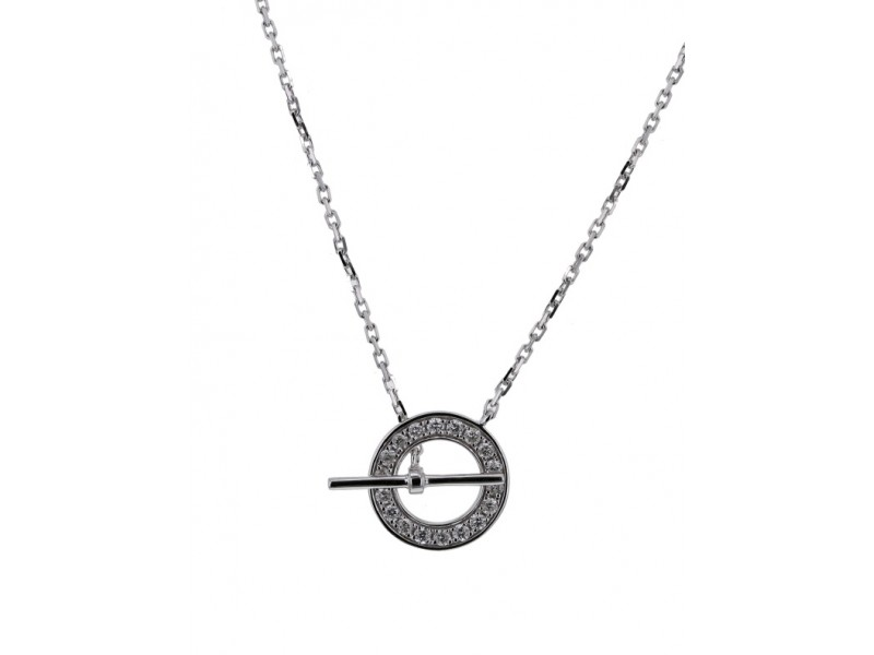 Diamond necklace in white gold - 18 K gold: 1.70 Gr