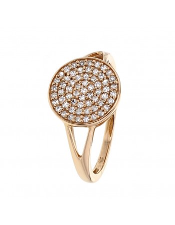 Diamond ring in rose gold - 18 K gold: 2.75 Gr