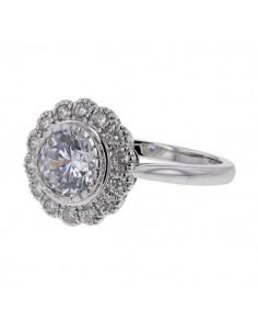 Diamond ring in white gold - 18 K gold: 3.60 Gr