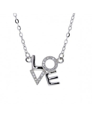 Cubic zirconia necklace in silver 925/1000