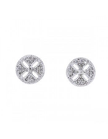 Diamond earrings in white gold - 18 K gold: 1.81 Gr