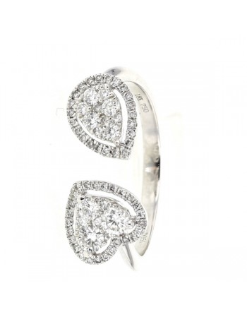 ring in white gold - 18 K gold: 2.79 Gr