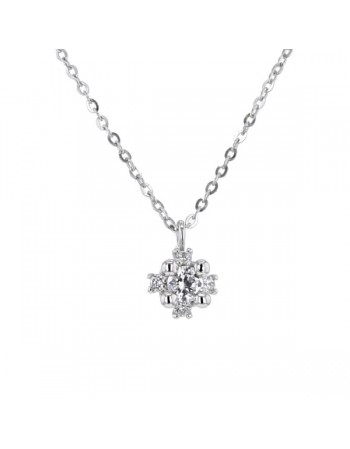 Cubic zirconia necklace in 9 K gold