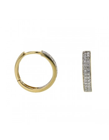 Two diamond strands earrings with diamonds in 18 K gold