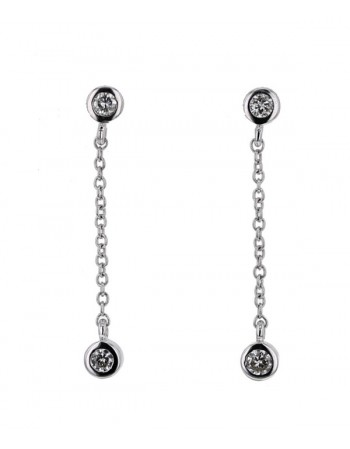 Boucles d'oreilles diamants en or blanc