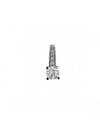 Diamond pendant in white gold - 18 K gold: 0.66 Gr