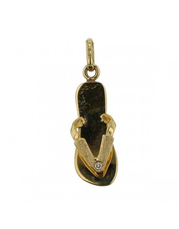 pendant in yellow gold - 18 K gold: 1.70 Gr