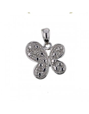 Diamond pendant in white gold - 18 K gold: 1.70 Gr
