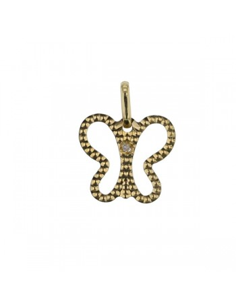 Pendentif papillon diamant en or jaune