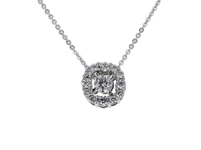 Diamond necklace in white gold - 18 K gold: 2.10 Gr