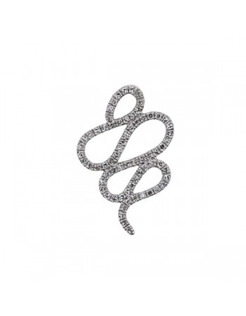 Pave set diamond snake pendant in 18 K gold