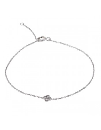 Diamond bracelet in white gold - 18 K gold: 1.00 Gr