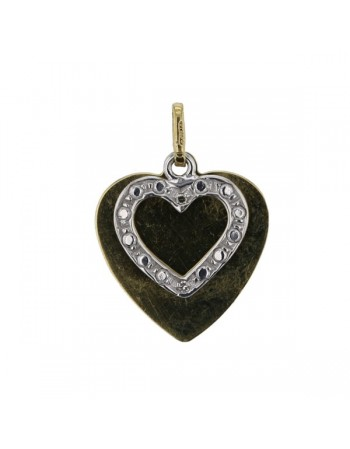Diamond pendant in yellow gold - 18 K gold: 1.80 Gr