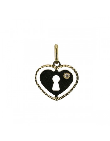 Heart pendant with diamond in 18 K gold