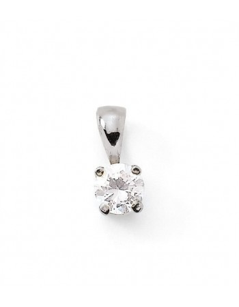 Diamond pendant in white gold - 18 K gold: 0.60 Gr