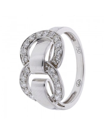 Bague maillons diamants en or blanc
