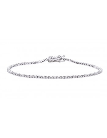 Diamond bracelet in white gold - 18 K gold: 6.24 Gr