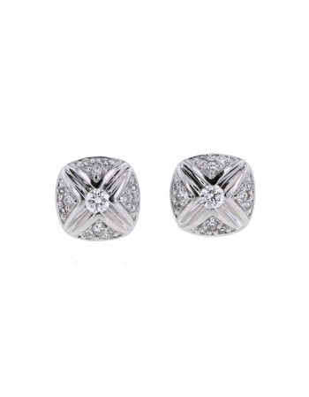 Diamond earrings in white gold - 18 K gold: 1.72 Gr