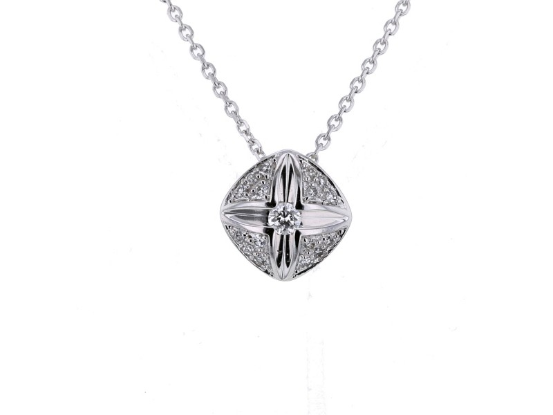 Diamond necklace in white gold - 18 K gold: 3.13 Gr