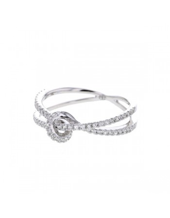 Diamond ring in white gold - 9 K gold: 2.05 Gr