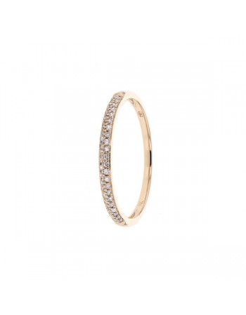 Diamond ring in rose gold - 9 K gold: 1.17 Gr