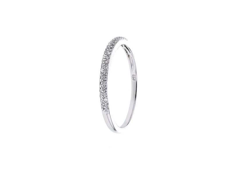 Diamond ring in white gold - 9 K gold: 1.17 Gr
