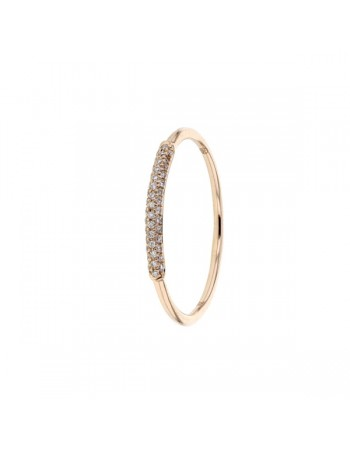 Diamond ring in rose gold - 9 K gold: 0.85 Gr