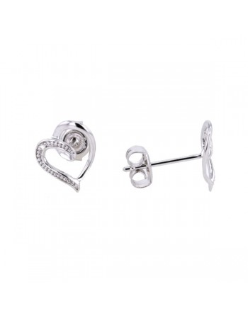 Diamond earrings in white gold - 9 K gold: 0.58 Gr