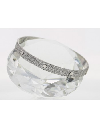 Bracelet jonc diamants