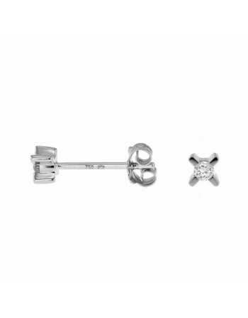 Diamond earrings in white gold - 18 K gold: 0.64 Gr