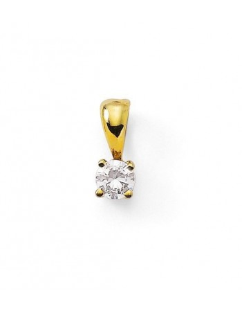 Diamond pendant in yellow gold - 18 K gold: 0.40 Gr