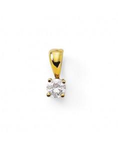 Pendentif puce diamant 4 griffes en or jaune
