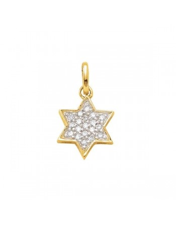 Diamond pendant in yellow gold - 18 K gold: 0.80 Gr