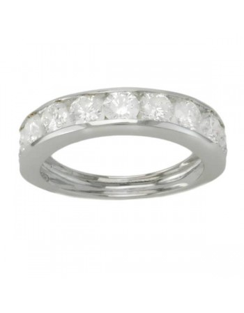 Diamond wedding ring in white gold - 18 K gold: 2.70 Gr