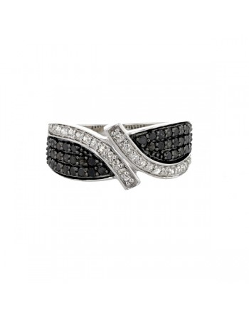 Diamond ring in white gold - 18 K gold: 3.35 Gr