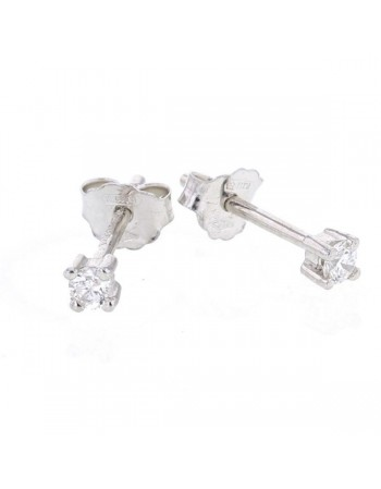 Diamond earrings in white gold - 18 K gold: 0.45 Gr