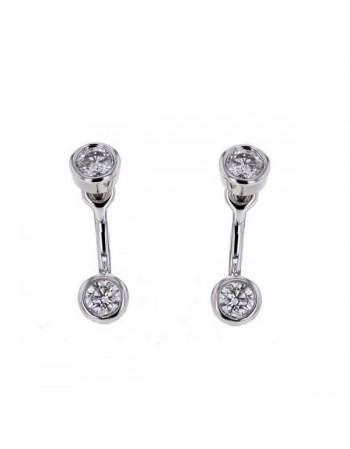 Diamond earrings in white gold - 18 K gold: 2.10 Gr