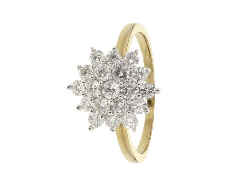 Diamond ring in yellow gold - 18 K gold: 3.60 Gr