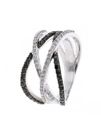 Diamond ring in white gold - 18 K gold: 4.98 Gr