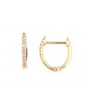 Diamond earrings in yellow gold - 9 K gold: 1.10 Gr