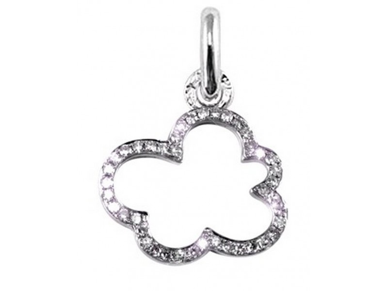 Pave set cloud in 18 K gold