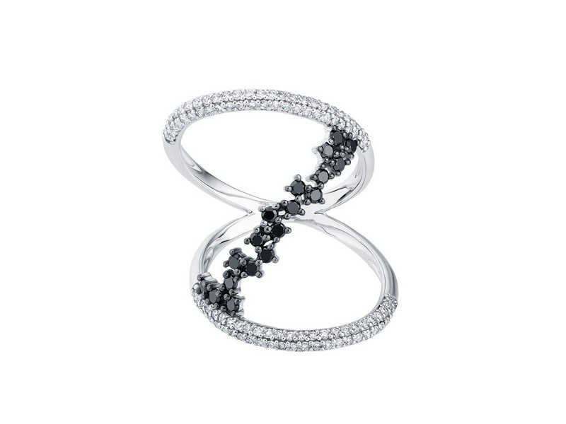 Diamond ring in white gold - 18 K gold: 4.00 Gr