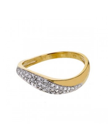 Diamond ring in yellow gold - 18 K gold: 2.62 Gr