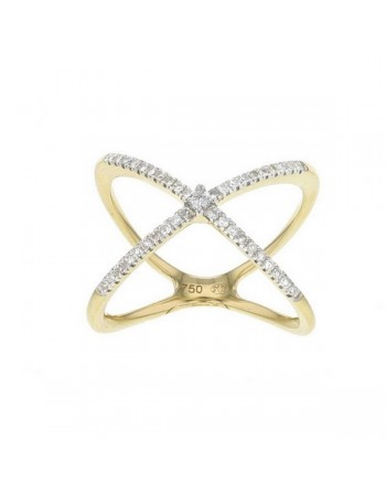 Diamond ring in yellow gold - 18 K gold: 3.54 Gr
